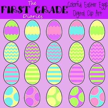 Easter Egg & Basket {Digital Clip Art}