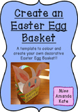 Easter Egg Basket Template