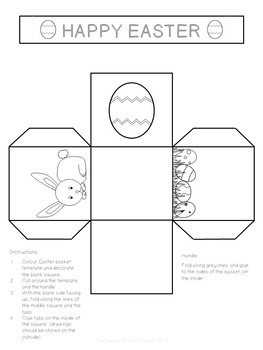 This is an image of Old Fashioned Printable Easter Basket