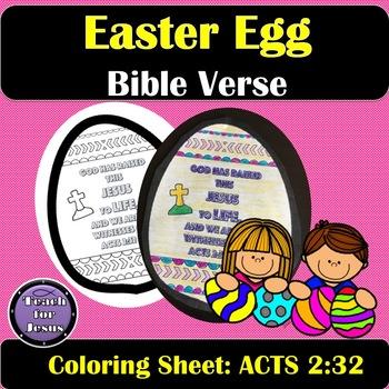 Easter Egg Bible Verse Coloring Sheet