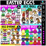 Easter Eggs Clip Art Big Bundle {Educlips Clipart}