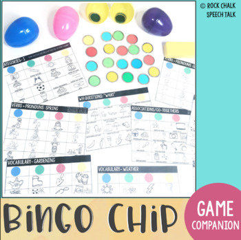 Bingo Chip No Prep Language Activities for Distance Learning Speech Therapy