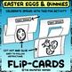 Easter Egg & Bunny FLIP-CARDS – Black & White