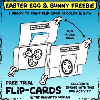 Easter Egg & Bunny FLIP-CARDS - FREEBIE