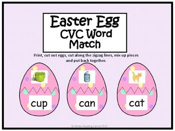 Easter Egg CVC Word Match