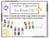 Easter Egg CVC Word Write the Room