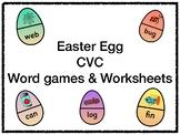 Easter Egg CVC Wordgames and Worksheets