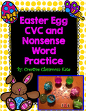 Easter Egg CVC and Nonsense Word Practice Page