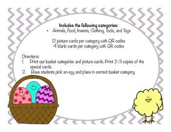 Easter Egg Categories with special QR codes