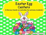 Easter Egg Centers (sight words, cvc words, & word families centers)