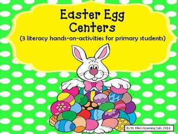 Easter Egg Centers (sight words, cvc words, & word familie