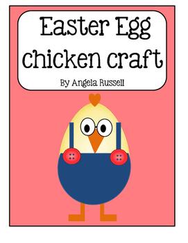 Easter Egg Chicken Craft