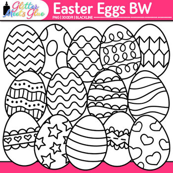 Easter Egg Clip Art {Great for Worksheets & Handouts for Spring Activities}