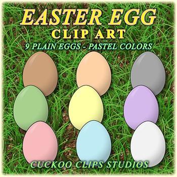 Easter Egg Clip Art (Pastel Colors)