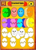 Easter Egg Clip Art: Whole eggs and Cracked Eggs by Charlotte's Clips