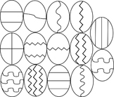 Easter Egg Clipart- Black & White