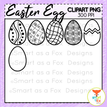 Easter Egg Clipart Personal and Commercial Use