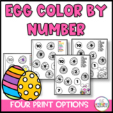 Easter Egg Color By Number
