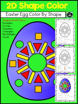 Easter Egg Color By Shape