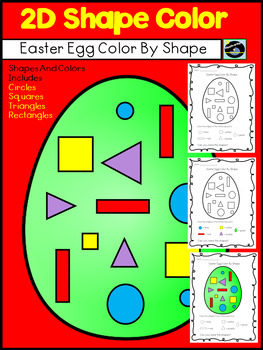 Easter Egg Color By Shape