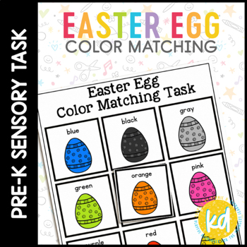 Easter Egg Color Match Folder Game for Early Childhood Spe