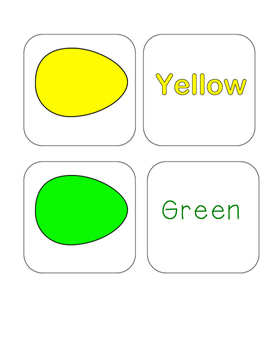Easter - Egg - Color Word and Egg - Matching and Memory Game - 11 pairs