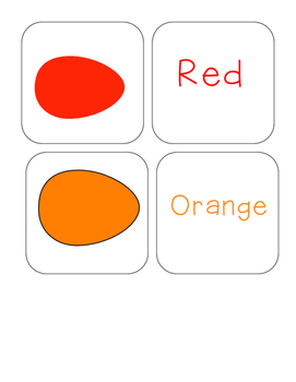 Easter - Egg - Color Word and Egg - Matching and Memory Ga