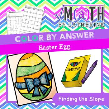 Easter Egg Color by Answer Finding the Slope