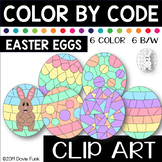 Easter Egg Color by Code Clip Art Designs