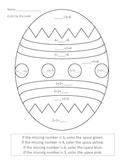 Easter Egg Color by code: Missing Number
