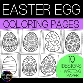 Easter Egg Coloring Pages (and writing paper) {Made by Creative Clips}