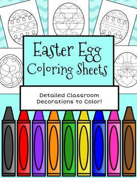 Easter Egg Coloring Sheets