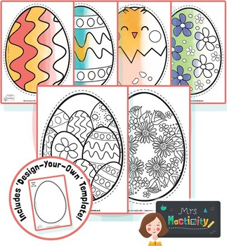 Easter Egg Coloring Templates