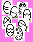 Easter Egg Coloring and Craft Pages Pack
