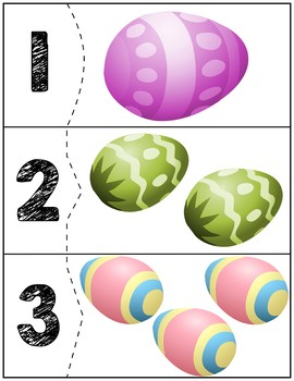 Easter Egg Correcting Quantity Puzzles | Numbers 1-12 by ...