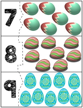 Easter Egg Correcting Quantity Puzzles | Numbers 1-12