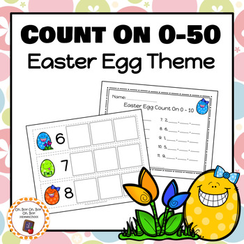 Easter Egg Count On Strips and Worksheets - S