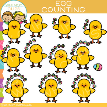 Easter Egg Counting Clip Art