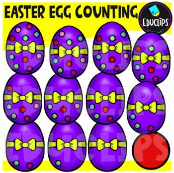 Easter Egg Counting Clip Art Bundle  {Educlips Clipart}
