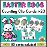 Easter Egg Counting Clip Cards 1-20