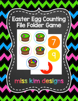 Easter Egg Counting File Folder Game for Special Education