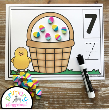 Easter Egg Counting Mats 1 - 20