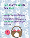 Easter Egg Counting & Number Recognition - How Many Eggs Are in the Basket?