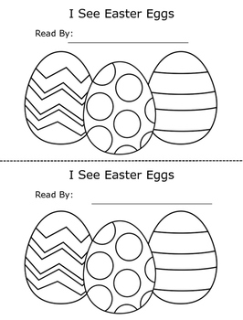 Easter Egg Counting Printable Emergent Reader Book for Young Readers