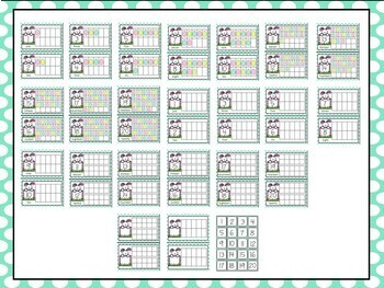 Easter Egg Counting Ten Frames 1 - 20 - Half Page Complete / Blank Sets