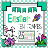 Easter Egg Counting Ten Frames 1 - 20 - Half Page Complete