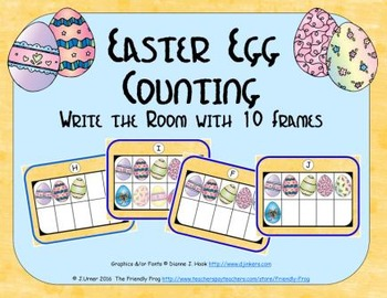 Easter Egg Counting with Ten Frames {Subitizing}