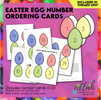 Easter Egg Counting/Ordering Cards