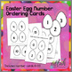 Easter Egg Counting/Ordering Cards - Full and Black White Versions