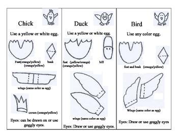 Easter Egg Critter templates